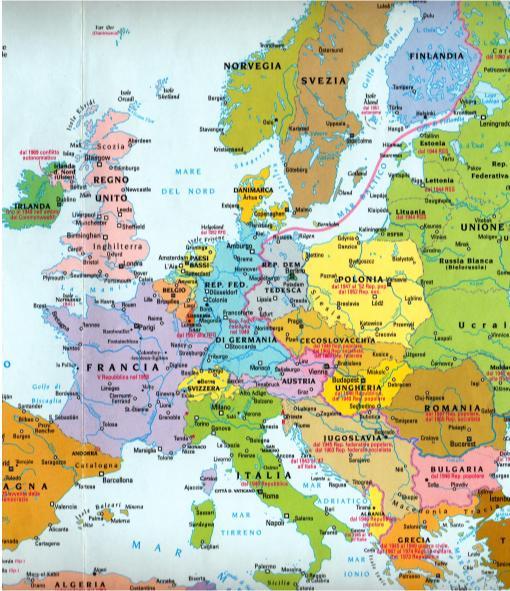 Germania Est Cartina.La Cortina Di Ferro L Europa Del Dopoguerra