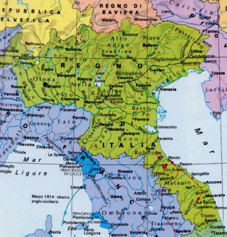 Cartina Dell Italia 1815.Formazione Del Ducato Dei Savoia