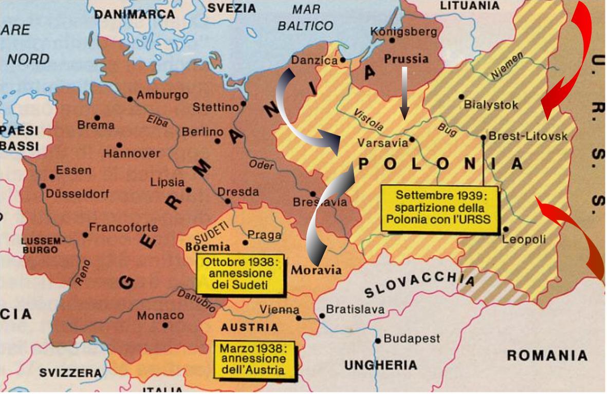 Cartina Italia 1939