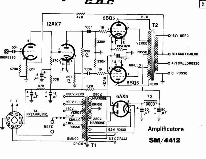 Schemi Elettrici Amplificatori Audio Con N : Schema elettrico amplificatore valvolare hi fi l angolo