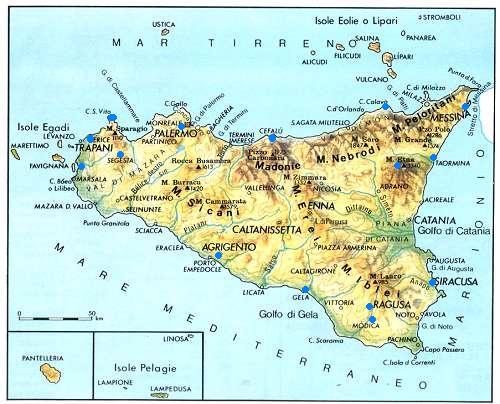 Cartina Sicilia Nord.Sicilia In Moto
