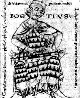 Boetius dans immagini sacre boezio