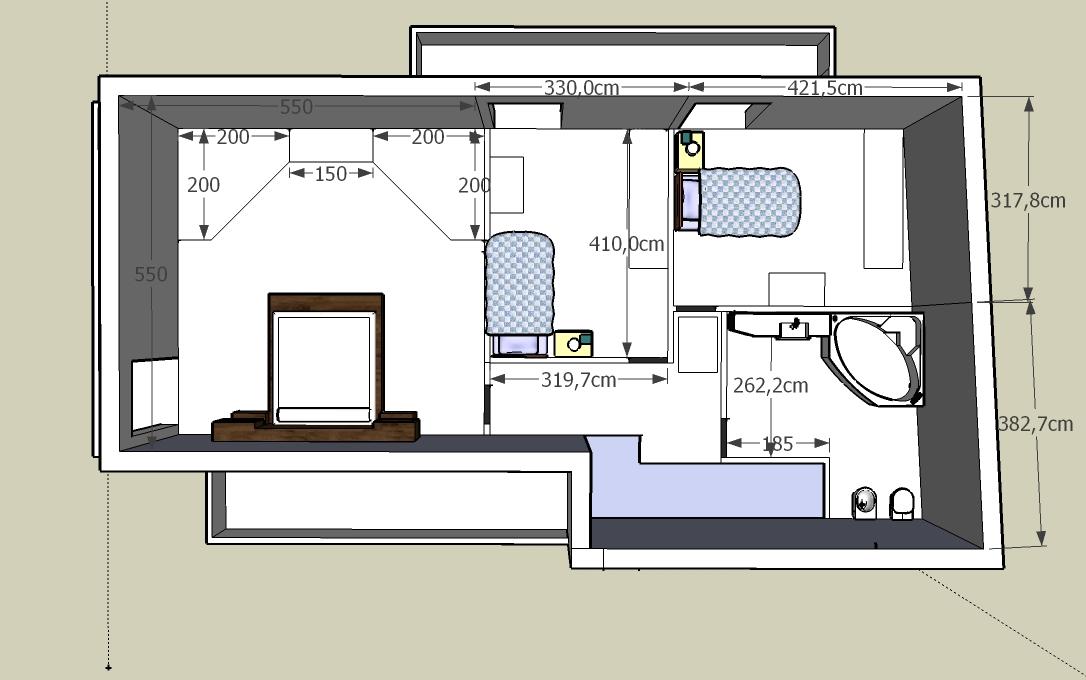 Forum aiuto per divisione spazi zona notte - Cabina armadio dimensioni ...