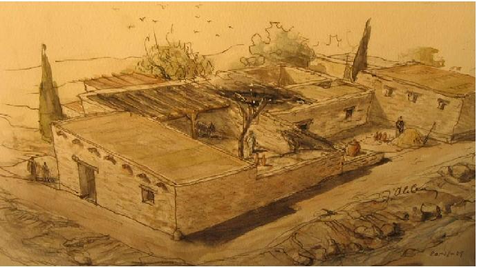 Scoperta a nazareth una casa for Immagini di case antiche