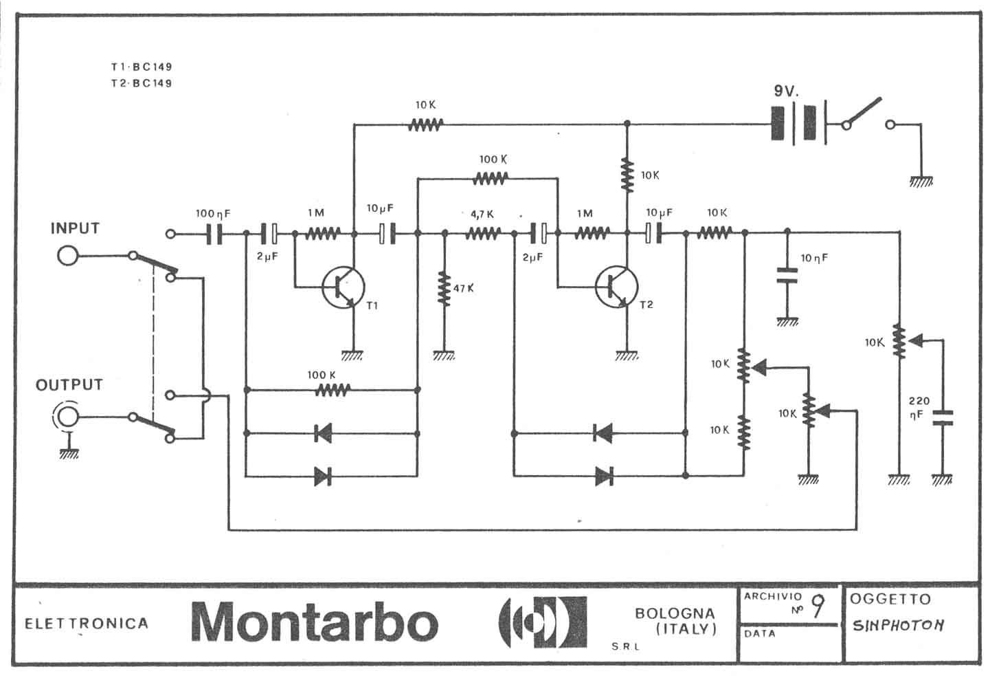 Schemi Elettrici Ne : Montarbo sinphoton