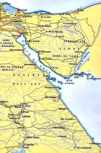 Cartina Stradale Egitto.Egitto Mappa Sharm El Sheikh Mar Rosso Clima Desertico Dell