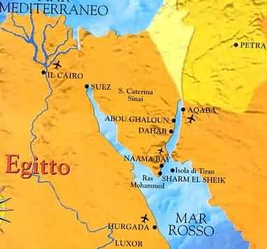 Cartina Egitto In Italiano.Egitto Mappa Sharm El Sheikh Mar Rosso Clima Desertico Dell Egitto