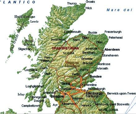 Cartina Scozia Dettagliata.Viaggio In Scozia