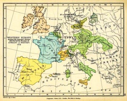 Mappa geografica dell'Europa del 1592