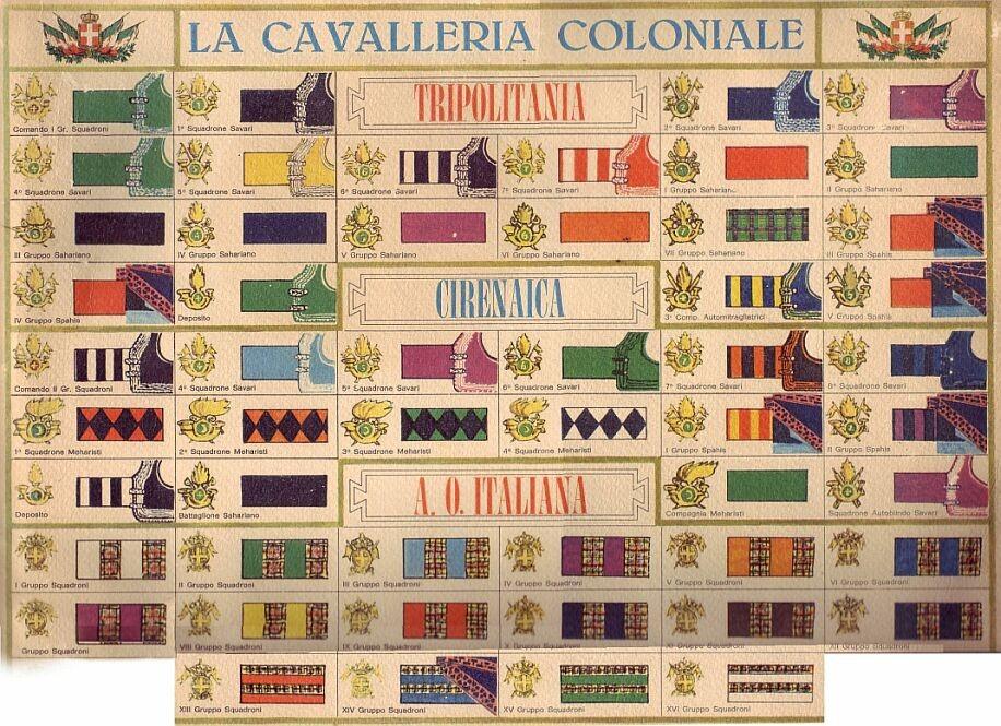 I Colori distintivi della Cavalleria coloniale dell Africa Orientale  Italiana. d85789d11e91