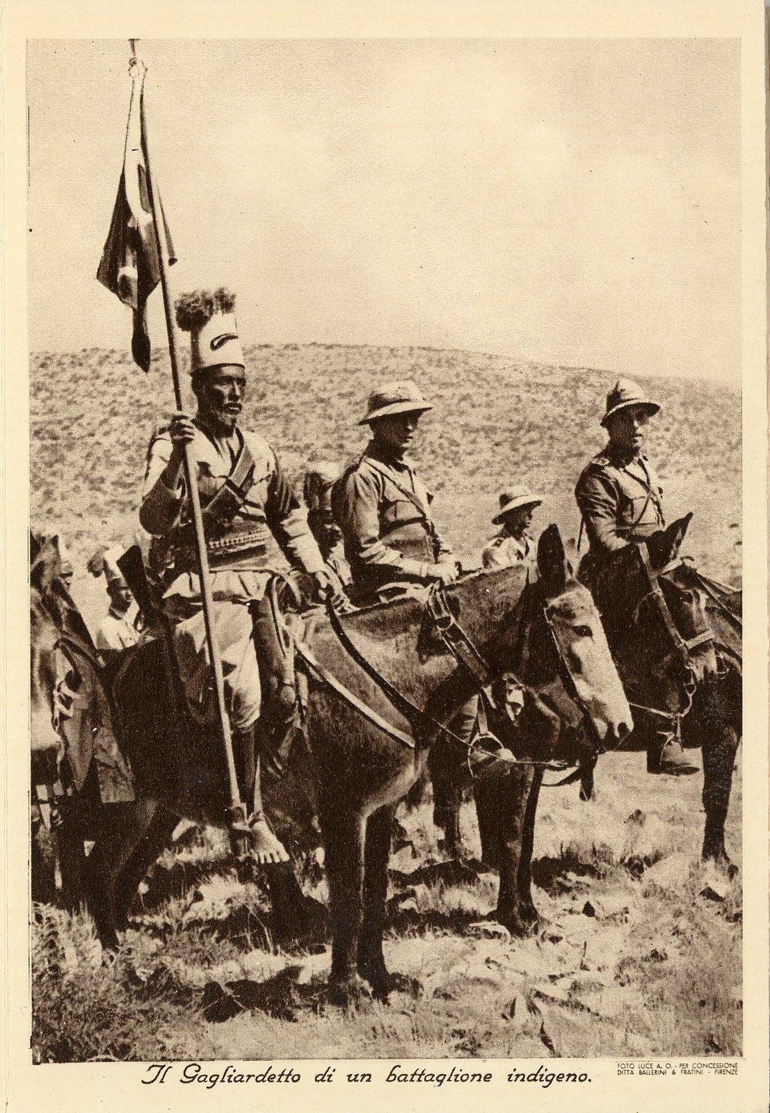 Ascari Eritrea. Immagini. Gagliardetto di un Battaglione Indigeno