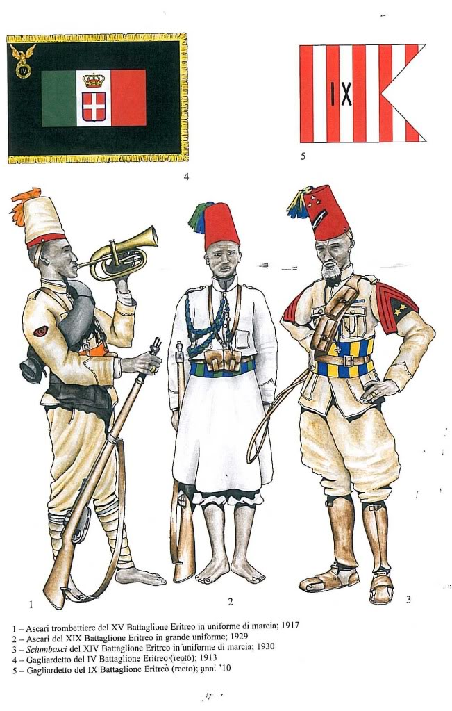 Ascari Eritrea Uniformi