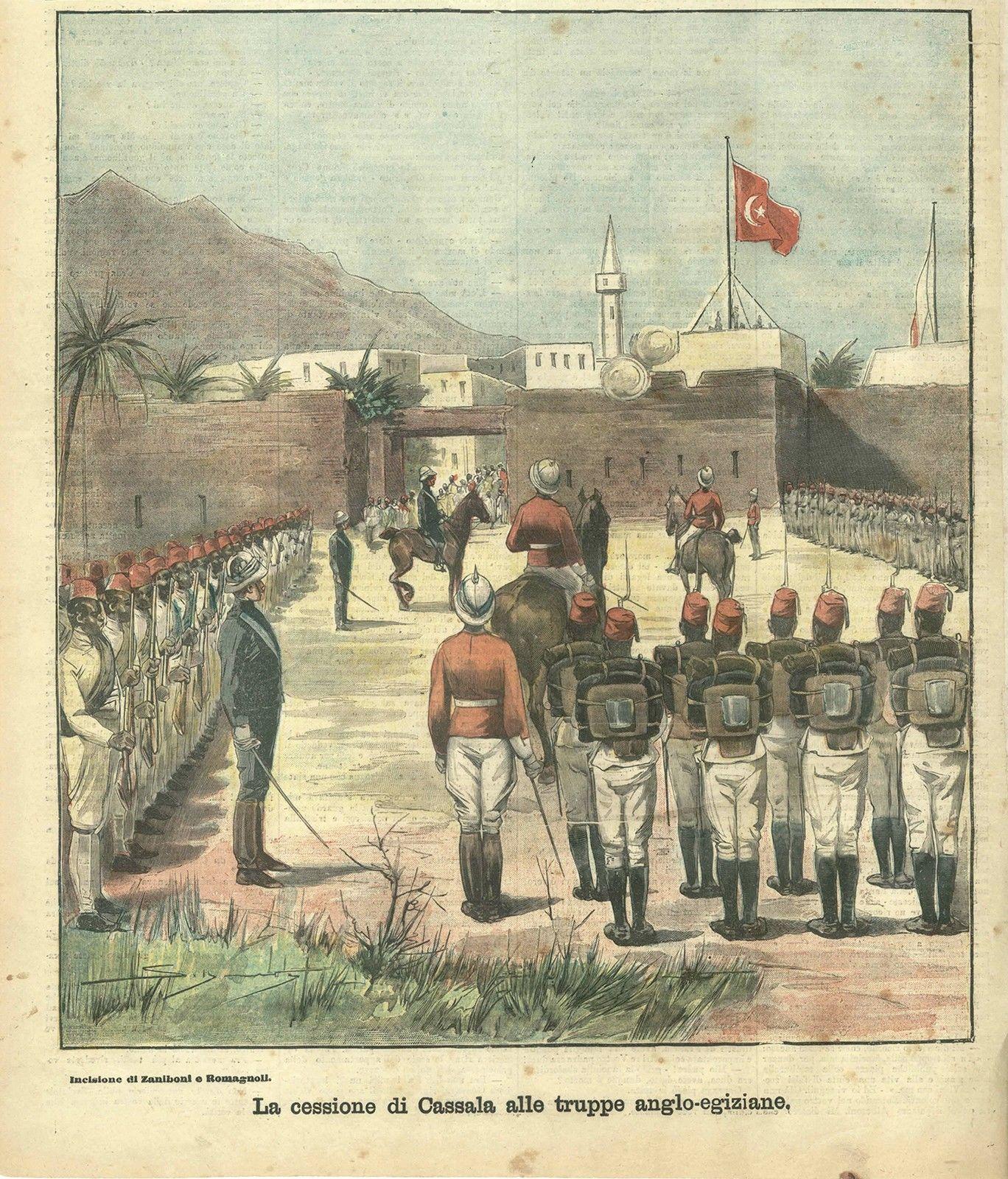Ascari Eritrea- Cessione di Cassala 1898