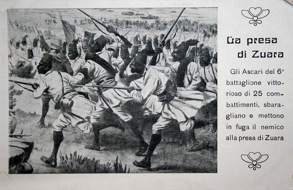Ascari Eritrea - La presa di Zuara - 1912