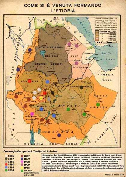 L' Abissinia e l'Impero d'Etiopia.